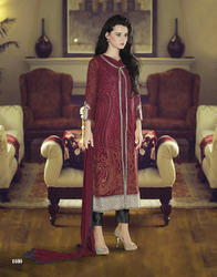 Semi Stitched Embroidered Suits