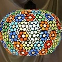Multicolor Mosaic Hanging Lamp