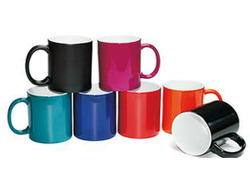 11 oz colour changing mug black orange
