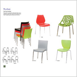 Fast Food Seating Cafe Chair  sc 1 st  Amardeep Designs India & Cafeteria Chairs Dining Table Shell Chair Folding Table and Chair ...