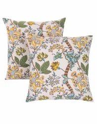 Hand Block Print Sofa Cushion Cover