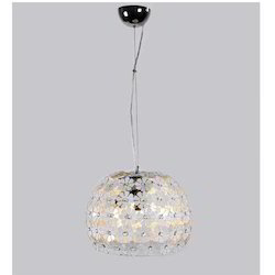Floural Chrome Crystal Pendant Light