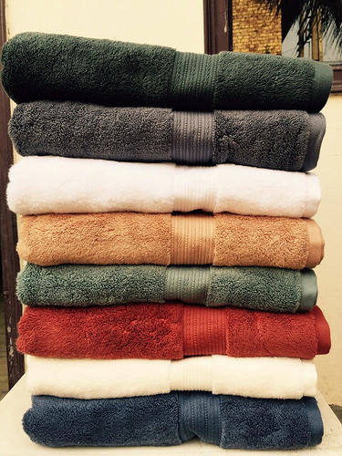 Dobby Border Towels