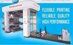 Roll to Roll Non Woven Fabric Stacked Flexo Printing Machine