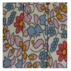 Flower Print Flat Leather Cords