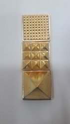 3 Set Of  Golden Plated Pyramid