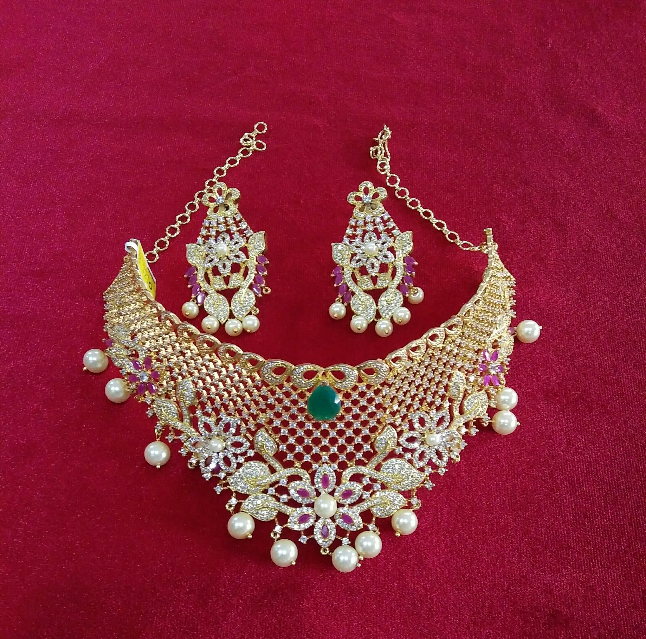 Gold One Gram Choker Rs 4000 Set Bhavani Emporium Id 19291565955
