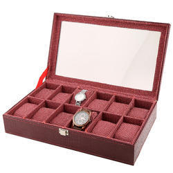 Watch Case - 12 - Maroon - Window