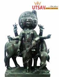 Black Marble Lord Dattreya Statue