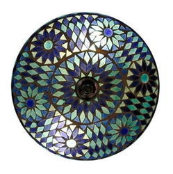Blue Glass Ceiling Lamp