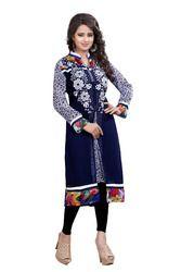 Blue Designer Embroidered Kurti