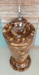 Wooden Free Standing Basin