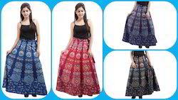 New Cotton Wrap Skirt