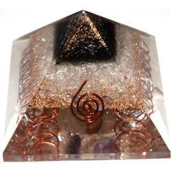 Orgone Pyramid with Crystal Yellow Aventurine