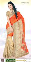 Fancy Half And Half Saree