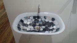 Prayosha Rectangle White Pearl Ring Washbasin