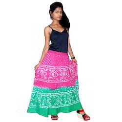 Navratri Puja Bandhej Skirt