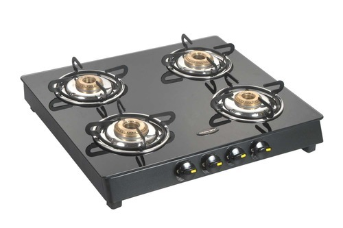 Gas Stoves 4 Burner Glass Top Gas Stove Manufacturer from New Delhi