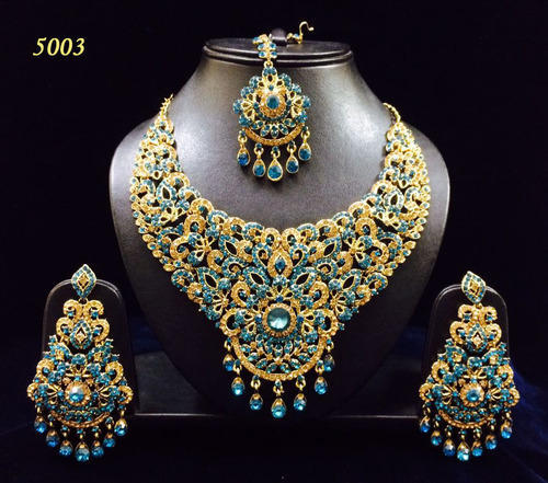 Indian Artificial Jewellery Artificial Heavy Colored Stone Bridal