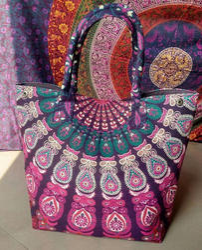 Indian Handmade Cotton Mandala Bag Designer Tote Bags