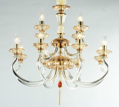 12 Lamps Crystal Chandelier
