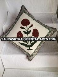 Block Print Poppy Cushion Cover