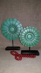 Set of 2 ,MDF Flower with Stand