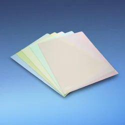 Colored L Shape Clear Folder