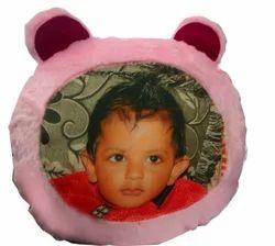 Fur Cushion With Teddy Bear Face