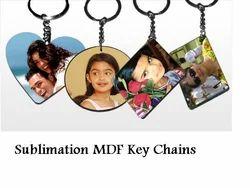 Sublimation MDF Key Ring - Sublimation Wooden Blank Keyring
