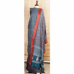 Dabu Indigo Print Dress Material