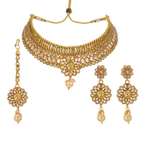 Antique Gold Plated Mukut