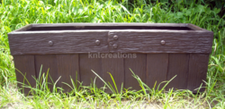 Barrel Wood Rectangular Planters