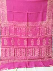 Discharge Chanderi Saree