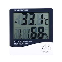 Mextech Brand Thermo Hygro Clock Model No-TM-1