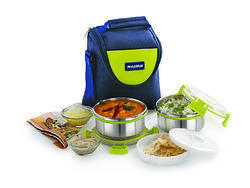 Magnus Comfy Lunch Box With 2 Containers Vertical Type