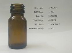 18 Ml Suspension Amber Glass Bottles