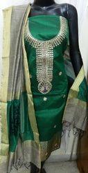 Aaditri Green Banarasi Suit