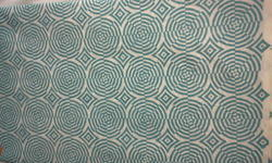 Blue Web Design Block Printed Fabric