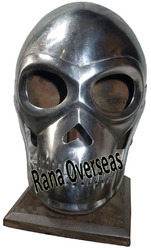 Metal Skeleton Armour Helmet