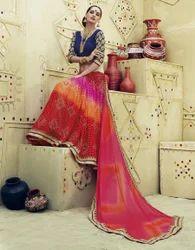 Net and Brasso Designer Saree