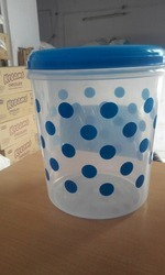 Plastic Polka Foil Printed Containers 5kg