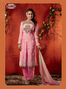 Chiffon Embroidery Semi Stitched Salwar Suit
