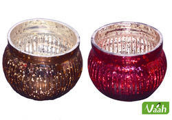 Glass Colorful Candle Holders