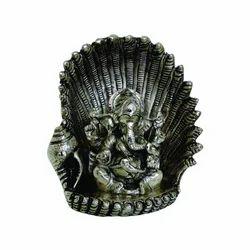 Silver Aluminum Ganesha Idol