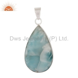 925 Silver Larimar Gemstone Pendant