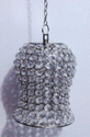 White Metal Crystal Hanging Lamps