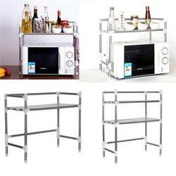 Stainless Steel Kitchen Microwave Stand Oven Shelf Spice Storage