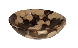 Prayosha 12inch Round Brown Resin Washbasin
