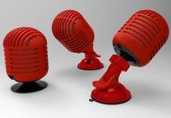 Microphone Shape Wireless Bluetooth Speaker